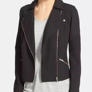 Trouve zippered motorcycle jacket/blazer.